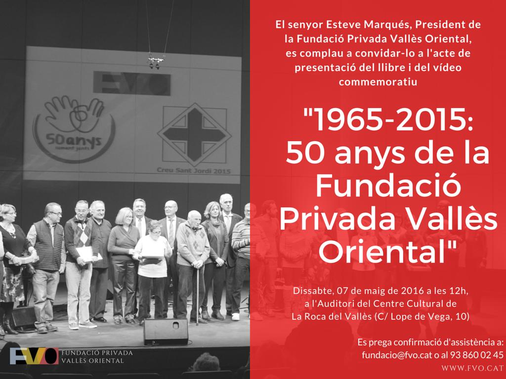 Invitació presentació llibre 50 anys
