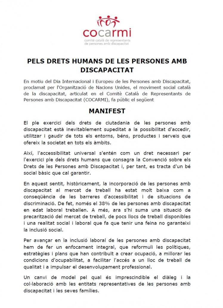 Manifest COCARMI
